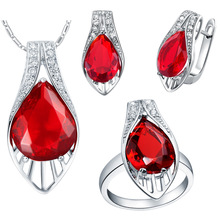 Plated NEW set of 925 Sterling Silver custom made pendant ear ring set with micro insert