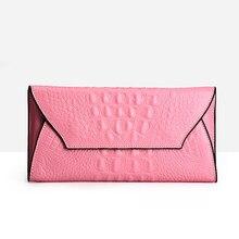 2017 New Fashion Women Genuine Leather Alligator Long Wallet Coin Pocket Card Money Holder Clutch Bag Purse Wallets Evening Bags