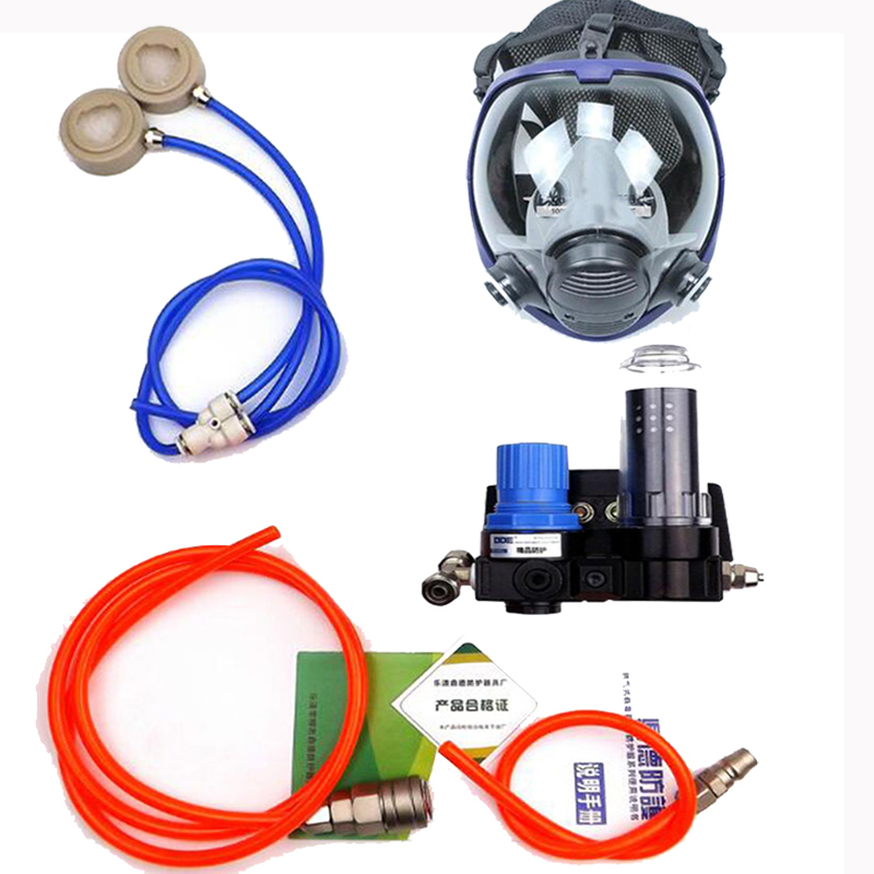 Chemcial Paint Spraying Supplied Air Fed Respirator System With 6800 Full Face Respirator Gas Mask