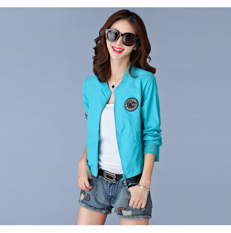 7 Colors Spring Summer Jacket Women Leisure Loose Plus Size Coat O Neck Long Sleeve Autumn Sport Jackets Casaco Feminino 2016 A8 H