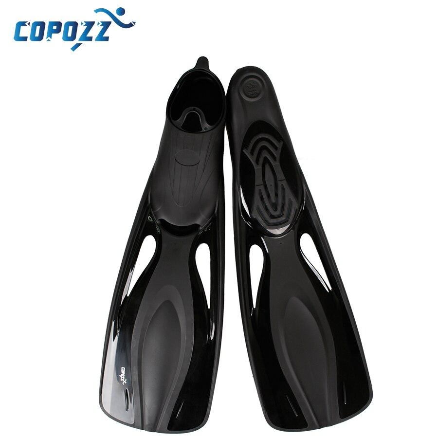 Copozz PP TPR palmes de natation longues palmes de plongée palmées piscine d'entraînement palmée Aletas Nadadeira hommes femmes bottes chaussures bota - 3