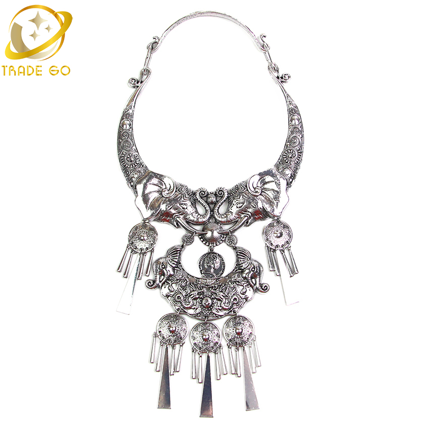 Buy 2015 new design fashion necklace the elephant head shape design statement Design and style fashion jewelry