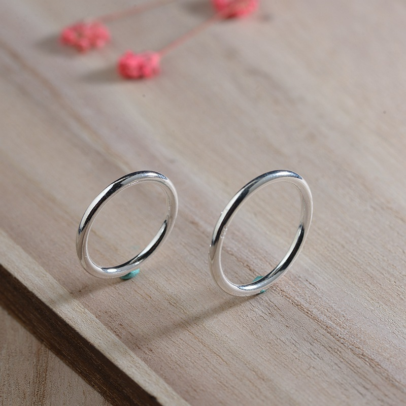 CMAJOR 925 Sterling Silver High Polished Minimalist Hoop Rings for Women Handmade Thai Silver Jewelry Wholesale(China)