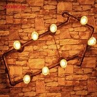 Личность Творческая Лофт Стиль стрелки трубы Спальня настенный светильник Гостиная Свет Кафе лампы баров свет Бесплатная доставка