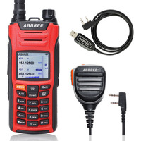 ABBREE AR F6 Walkie Talkie six 6 Bands police band LCD Color Display 125 560MHz Dual Standby 999CH VOX DTMF SOS Two Way Radio