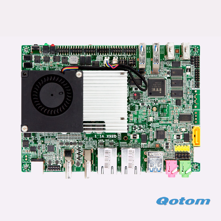 6*COM Dual Lan Celeron 3215U on board Mini motherboard GPIO Suitable For POS Machine ATM ...