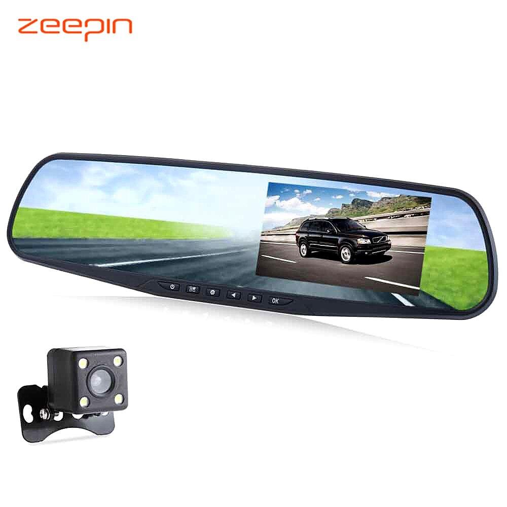 Zeepin RH-A20 4.3 Pouces voiture à double lentille enregistreur dvr Full HD 1080 P enregistrement en boucle vision nocturne Caméra