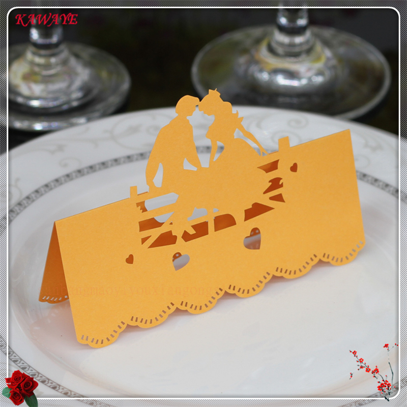50Pcs Laser Cut Name Card Name Table Place Card Creativity Wedding Celebration Birthday Party Table Card Seats Decoration 7ZXX04