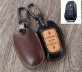 High Quality Leather Car Key Case Ring Holder Cover For Citroen C4L/C3XR/DS5LS Peugeot 301/308S 408/508/2008 Key Accessories