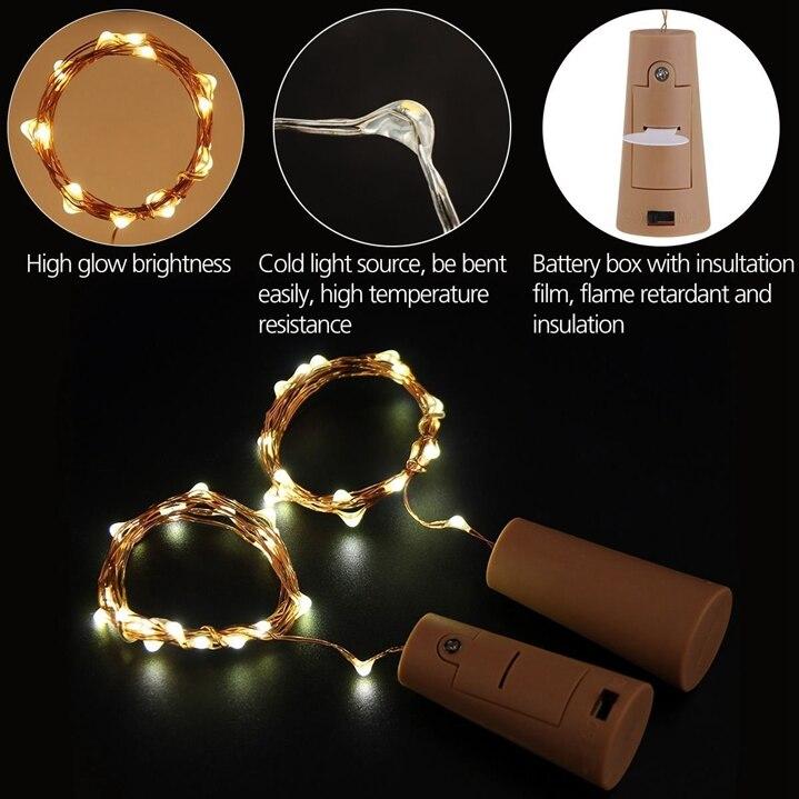 Led string luz 50 peça incluído baterias