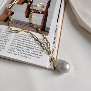 Image 5 - LouLeur Bạc 925 Baroque Cổ Ngọc Trai Vàng Vuông Dây Chuyền Giọt Nước Mặt Dây Chuyền Vòng Đeo Cổ Cho Nữ Lãng Mạn Món Quà Trang Sức