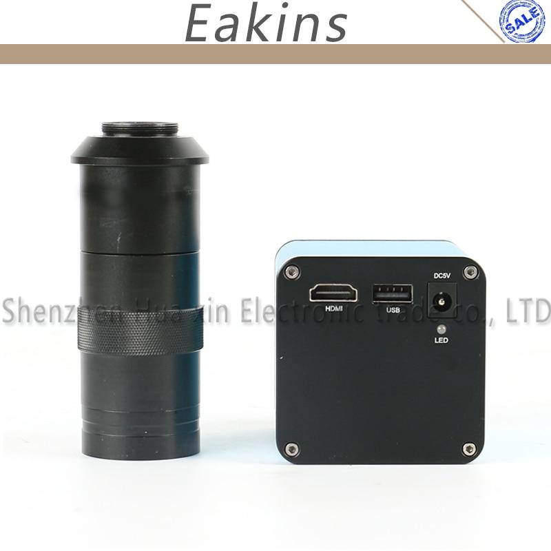 Autofocus 1080P 60FPS SONY SENSOR IMX290 HDMI Video Industry Auto Focus Microscope Camera + 100X C-Mount Lens For PCB Repair цена