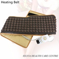 NEW far infrared tourmaline stone heating thermal health care waist belt therapy stone heating massage back support belt