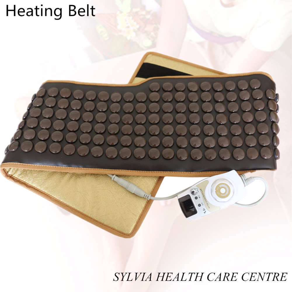 NEW far infrared tourmaline stone heating thermal health care waist belt therapy stone heating massage back support belt far infrared stone tourmaline belt jade stone waist belts thermal heating therapy massager