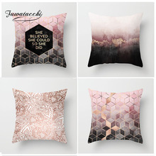 Fuwatacchi Nordic Style Cushion Cover Pink Geometric Print Pillow Case Home Decorative Pillows Cover Home Decoration Accessories-in Cushion Cover from Home & Garden on AliExpress