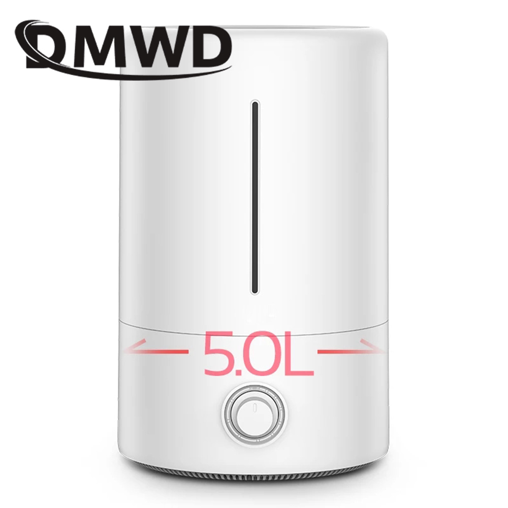 DMWD Mute Ultrasonic Humidifier Aromatherapy Fogger Essential Oil Diffuser Atomizer Mist Maker Fresh Air Purifier 5L Home Office home tabletop ultrasonic humidifier 5l touch type timing mist maker mute air purifier auto power off protection 300ml h