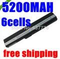 5200mAh battery for Asus K52 K52J K52JB K52JC K52JE K52JK K52JR K52N K52D K52DE K52DR K52F K62 K62F K62J K62JR  K52IJ K52F