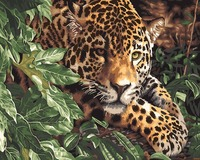 Leopard Hidden Tn The Bush Oil Painting By Numbers On Canvas Digital Wall Art Pictures Handwork