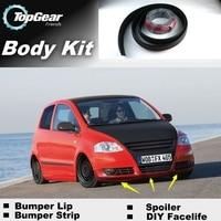 Bumper Lip Deflector Lips For Volkswagen VW Fox / Lupo Front Spoiler Skirt For TopGear Car Tuning / Body Kit / Strip