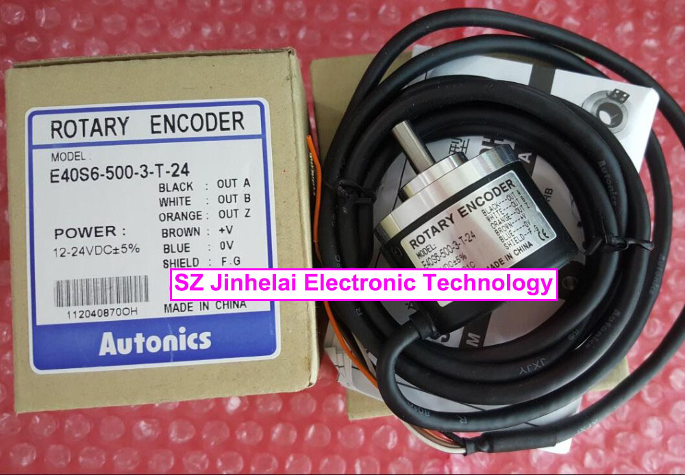 100% New and original  E40S6-500-3-T-24,  E40S6-1024-3-N-24   AUTONICS   Incremental rotary encoder  12-24VDC e50s8 1000 3 t 24 new and original autonics incremental rotary encoder