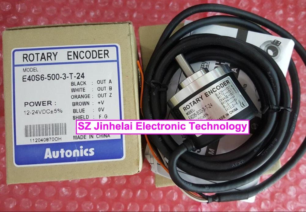 100% New and original  E40S6-500-3-T-24,  E40S6-1024-3-N-24   AUTONICS   Incremental rotary encoder  12-24VDC 100% new and original e50s8 360 3 n 24 e50s8 60 3 t 24 autonics incremental rotary encoder
