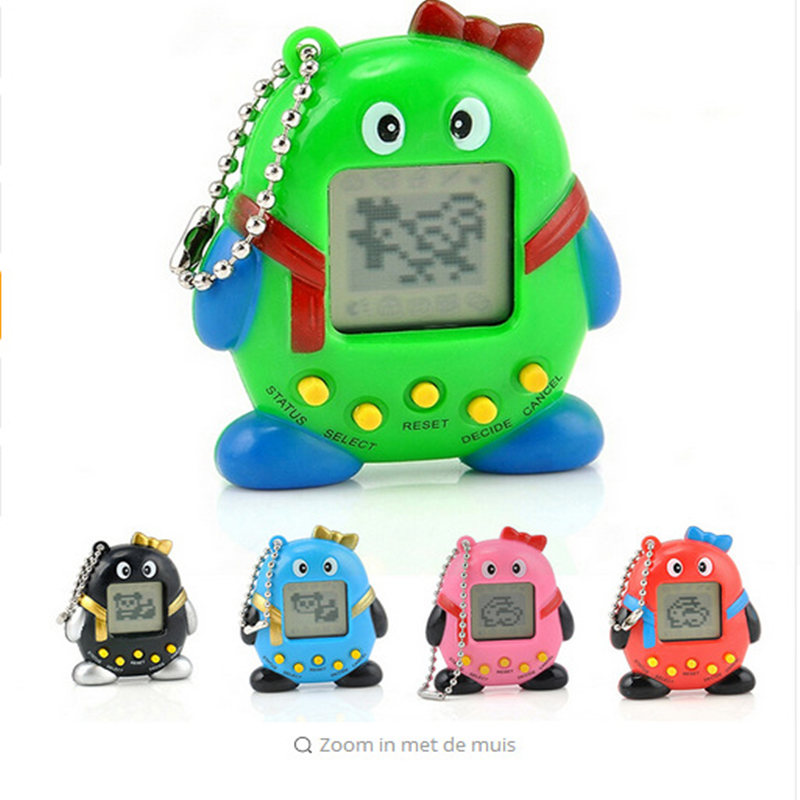Mini Tamagochi Pet Toy Virtual Digital QQ Penguin Pet in 1 Virtual Cyber Electronic Pet Brinquedos For Childrens Gifts