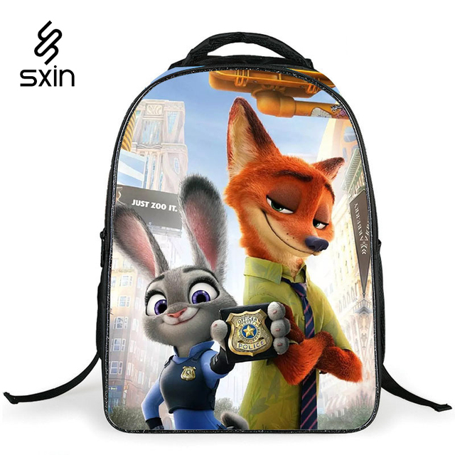Zootopia Children School bags Cute 3D Cartoon Backpack Schoolbag for Boys Casual Kids School Book Bag Mochila Escolar