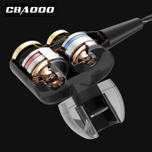 CBAOOO In-Ear Bluetooth Earphones HIFI Sport Stereo Bass Earbuds 4 Speakers Headset Bluetooth 4.1 Wireless Earphone