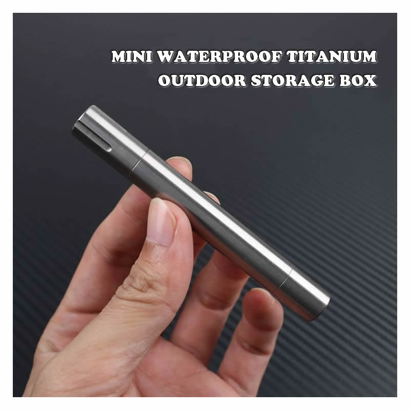 Mini Portable Waterproof Titanium Pill Storage Box Outdoor Emergency Medicine Capsule Bottle Case Holder First Aid Kit