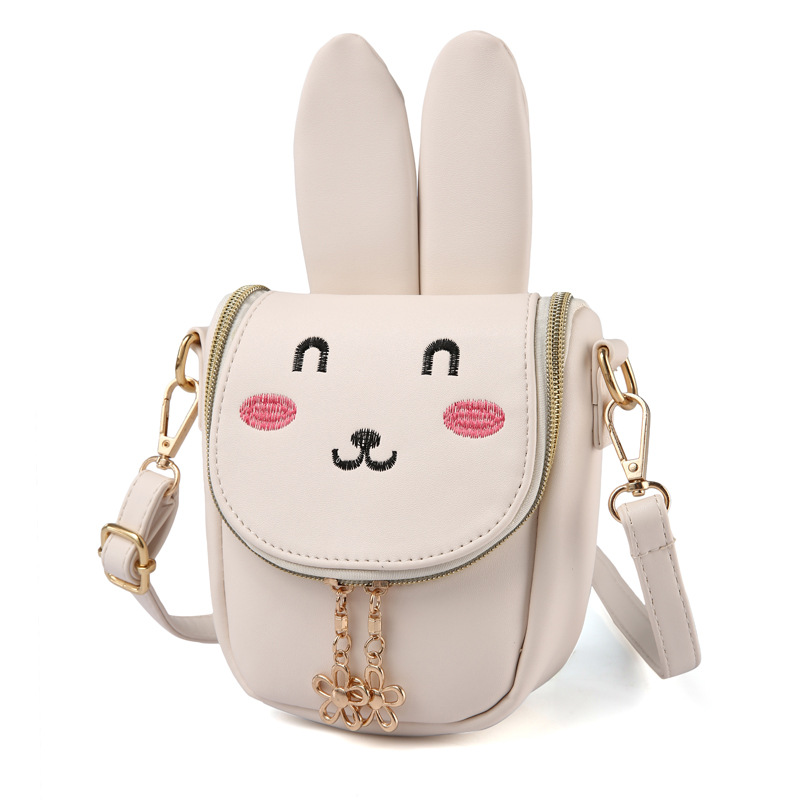 PU leather cute rabbit women coin purse children wallet kids mini shoulder crossbody money pouch bag carteira feminina for girls