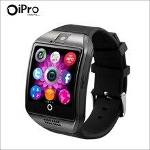 Bluetooth Intelligente Armbanduhr Telefon Q18 mit Kamera FM Radio TF SIM Einbauschlitz Schlaf-monitor Sitzende Erinnerung Smartwatch