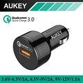 Aukey coche cargador con carga rápida 3.0 para samsung iphone 7 plus/5/6/6 s galaxy s7/edge htc 10, lg g5 lg xiaomi huawei y más