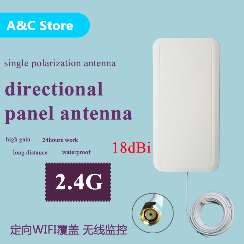 18dBi 2.4g wifi antenna directional single polarization panel antenna RF-SMA-male connector high gain wireless network 2pcs/lot ...