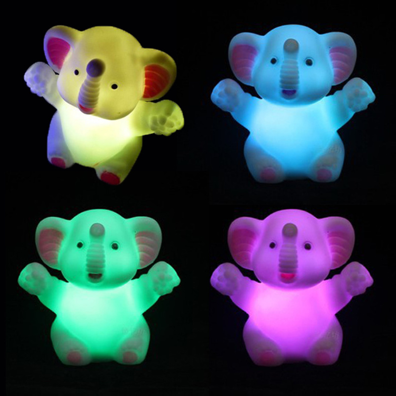 1Pcs Elephant PVC Light New Year Birthday Gift Home Decora Light Festival Wedding Decorative Party Lamp Colorful Glow Props~