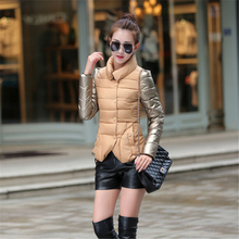 Womens Winter Jackets And Coats 2016 Single Breasted Down Cotton Padded Parkas A964