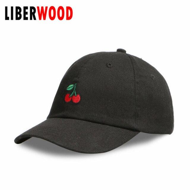 Liberwood Ciliegie Emoji Cherry Berretto Da Baseball Del Cappello Alla Moda Hip  hop Abbigliamento Rockabilly Punk 50e3722a73dd