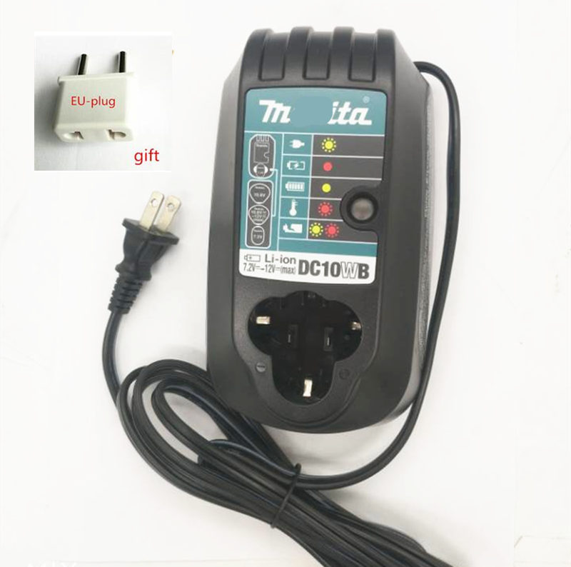 Chargeur DC10WB pour Makita BL1014 7.2 V 9.6 V 10.8 V 12 V batterie Li-ion