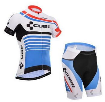 CUBE 2016 Summer Short Sleeve Bicycle Cycling Jersey bib shorts set Bike Clothing Bicycle Clothes Sportswear Ropa Ciclismo