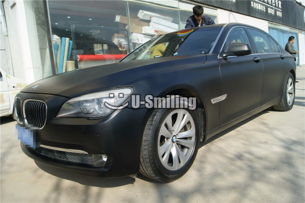High Quality Satin Black Vinyl Wrap Film Car Wrapping Foil Air Bubble Free For Vehicle Graphic