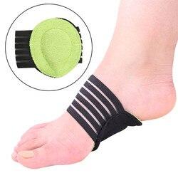 Monchain Unisex 1 par de protección de tobillo transpirable pie arco grueso pie Mat plantilla para zapato deportivo almohadilla vendaje correa de pie