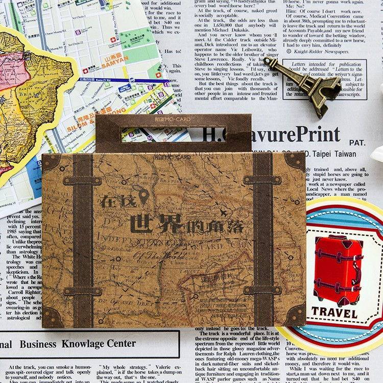 30pcs vintage travel The corner of the world Greeting Card Postcard Birthday Letter Envelope Gift Card Set Message Card escolar цена