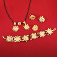 Gold Plated Women Ethiopian Coins Jewelry Sets 22K Gold Plated Ethiopian Jewelry Sets For Party And