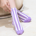 2 Pairs/Lot Woman Korean Candy Color Vertical Stripes Cotton Socks Female Absorb Sweat Deodorize Rainbow Color Long Calcetines