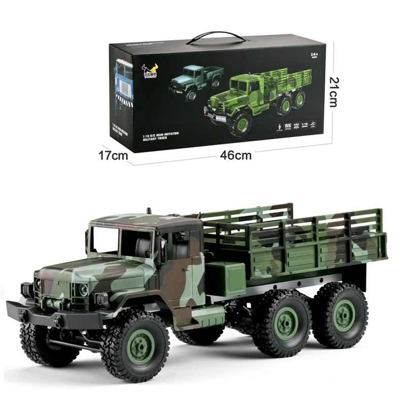 Hot Sales MN-77 1/16 2.4G 4WD 10km/h Remote Control Rc Car & LED Light Camouflage Military Off-Road Car RTR Toy For Boys Gifts