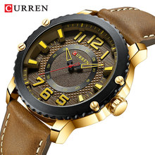 Curren Top Brand Fashion Men's Clock Causal Business Quartz New Leather Light Watches Men Wristwatch Time Gift Relogio Masculino все цены
