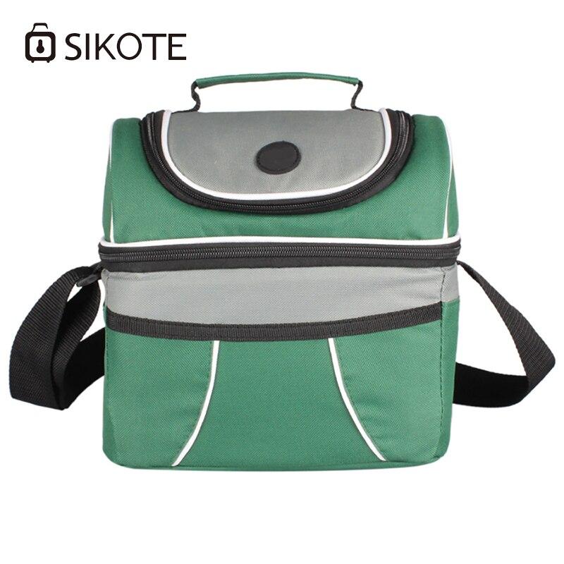 SIKOTE Portable Lancheira Thermo sac à Lunch femmes hommes enfant thermique nourriture pique-nique boîte de lancement 10L refroidisseur fourre-tout sacs à main Bolsa Termica