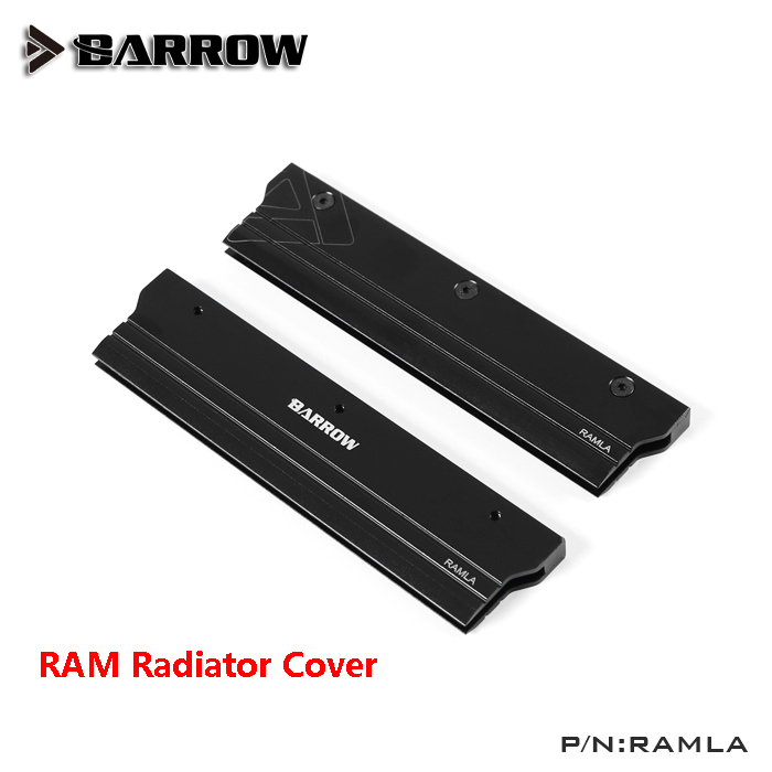 Barrow Metal Radiator Cover use for RAM Standard Width Black Liquid Cooling System Heat Dissipation 1pcs