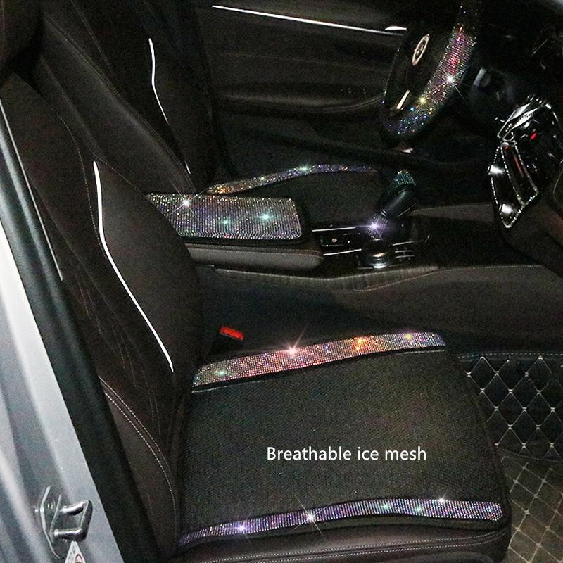 Ladycrystal Interior-Accessories Seat-Cover Rhinestone 1-Piece Auto Car-Styling Luxury