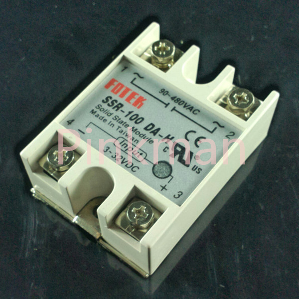 1 pc FOTEK 100DA-H Solid State Relay SSR Single Phase DC-AC white shell 220v 3 32v single phase solid state relay ssr dc control ac fotek 80a ssr 80da
