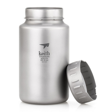 Keith 900ml and 1.2L pure titanium sport bottle very lightweight big capacity for you